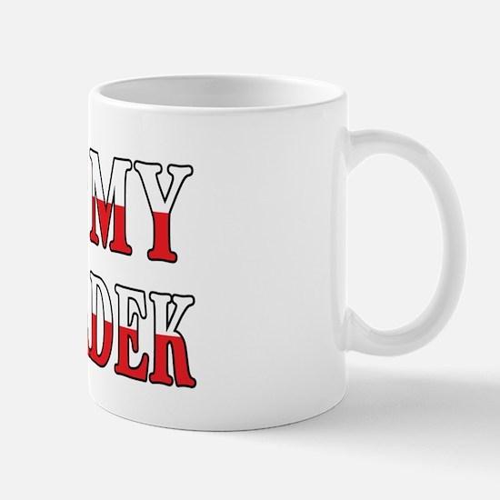 I Heart My Dziadek Flag Mug