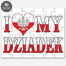 I Heart My Dziadek Flag Puzzle