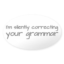Silently Correcting Your Grammar Decal