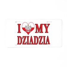 I Heart My Dziadzia Aluminum License Plate