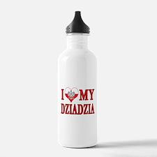 I Heart My Dziadzia Water Bottle