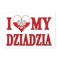 I Heart My Dziadzia Postcards (Package of 8)
