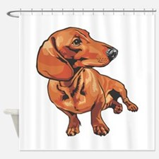 dachshund1.png Shower Curtain
