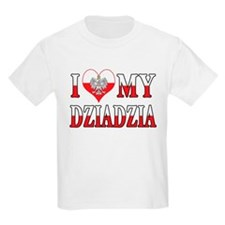 I Heart My Dziadzia Flag T-Shirt