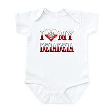 I Heart My Dziadzia Flag Infant Bodysuit