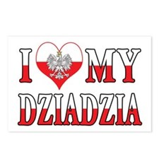 I Heart My Dziadzia Flag Postcards (Package of 8)