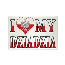I Heart My Dziadzia Flag Rectangle Magnet