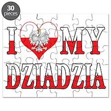 I Heart My Dziadzia Flag Puzzle
