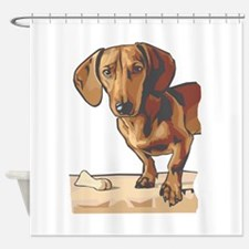 dachshund3.png Shower Curtain