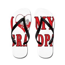 I Heart My Grandpa Flip Flops