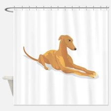 greyhound11,png.png Shower Curtain