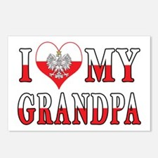 I Heart My Grandpa Flag Postcards (Package of 8)