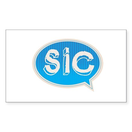 SIC logo Sticker (Rectangle)