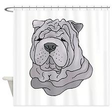 shar pei copy.jpg Shower Curtain