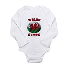 Wales Cymru Long Sleeve Infant Bodysuit