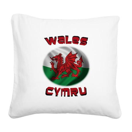 Wales Cymru Square Canvas Pillow
