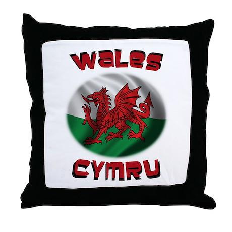 Wales Cymru Throw Pillow