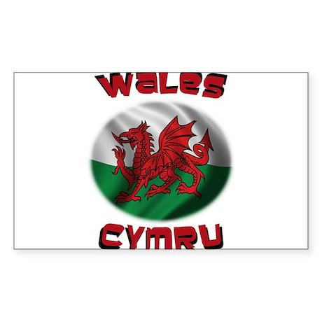 Wales Cymru Sticker (Rectangle)