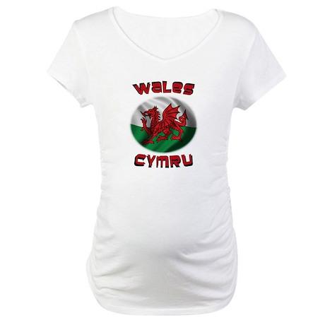 Wales Cymru Maternity T-Shirt