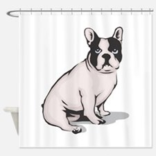 french-bulldog.png Shower Curtain