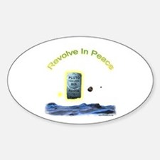Revolve In Peace Pluto Oval Decal