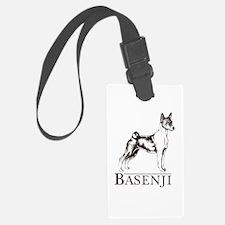 Basenji white Luggage Tag