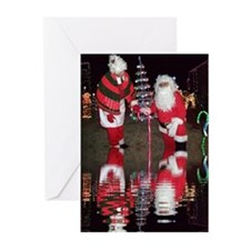 Christmas Santa Reflection Greeting Cards (Pk of 1