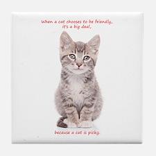 Picky Cat Tile Coaster