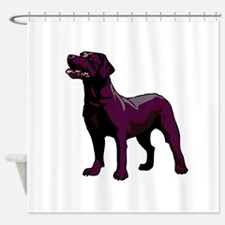 lab,black.png Shower Curtain