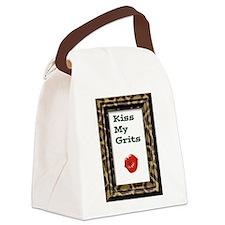 kiss my grits copy.jpg Canvas Lunch Bag