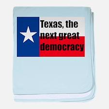 texas, next democracy baby blanket