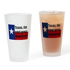 texas, next democracy Drinking Glass