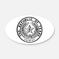 Secede Republic of Texas Oval Car Magnet