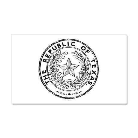 Secede Republic of Texas Car Magnet 20 x 12