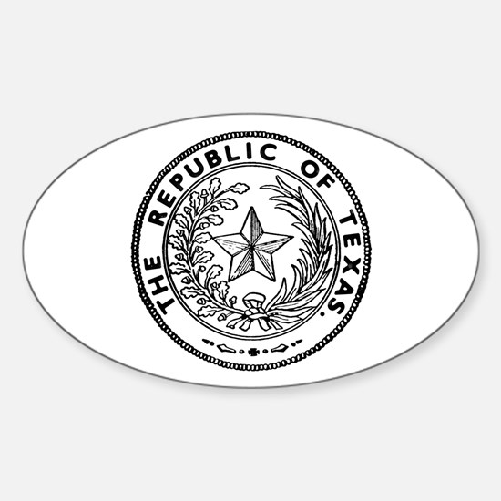 Secede Republic of Texas Sticker (Oval)