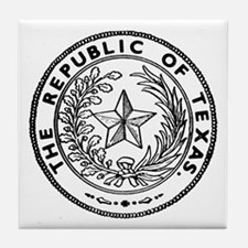 Secede Republic of Texas Tile Coaster