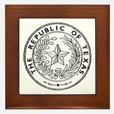 Secede Republic of Texas Framed Tile