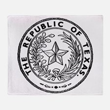 Secede Republic of Texas Throw Blanket