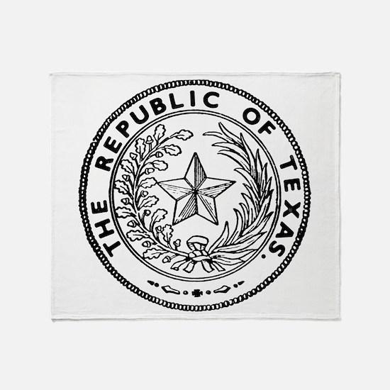 Secede Republic of Texas Throw Blanket