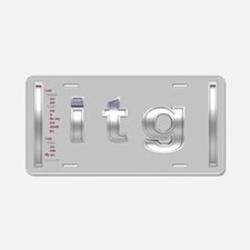 Silver itg Aluminum License Plate