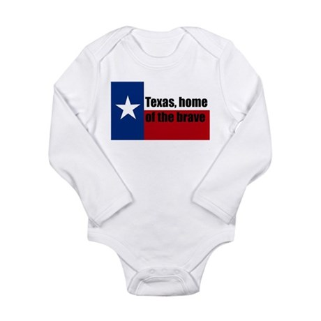 texas, home of the brave. Long Sleeve Infant Bodys