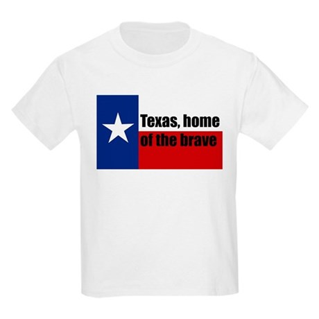 texas, home of the brave. Kids Light T-Shirt