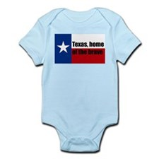 texas, home of the brave. Infant Bodysuit