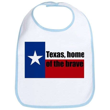 texas, home of the brave. Bib