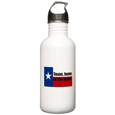 texas, home of the brave. Stainless Water Bottle 1