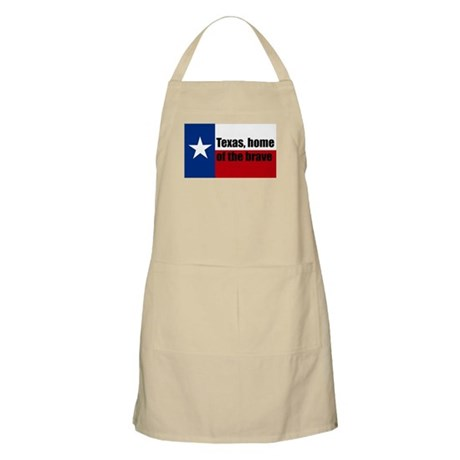 texas, home of the brave. Apron