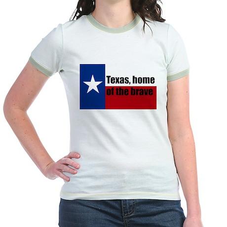 texas, home of the brave. Jr. Ringer T-Shirt