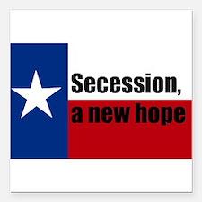 "secession, a new hope Square Car Magnet 3"" x 3"""