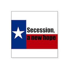 """secession, a new hope Square Sticker 3"""" x 3"""""""