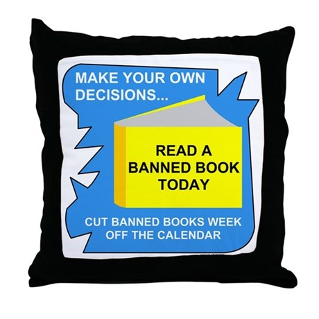 Read Banned Books Throw Pillow